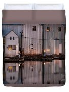 Boathouse Reflections  Duvet Cover