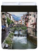 Canals Of Annecy Duvet Cover