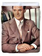 Cary Grant, Vintage Actor Duvet Cover