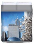 Chicago Bean Millenium Park Duvet Cover