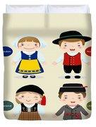 Children Of The Word Duvet Cover