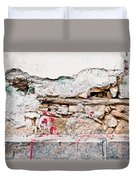 Damaged Wall Duvet Cover