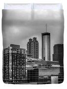 Downtown Atlanta, Georgia Usa Skyline Duvet Cover