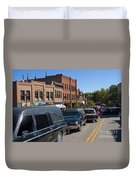 Emma Crawford Coffin Races In Manitou Springs Colorado Duvet Cover