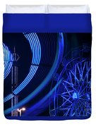 Ferris Wheel In Motion Duvet Cover