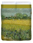 Field With Flowers Near Arles Duvet Cover