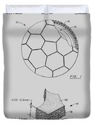 Football Patent Duvet Cover