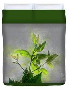 Fresh Growth Of Healthy Green Leafs  Duvet Cover