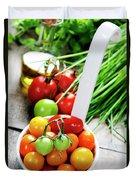 Fresh Tomatoes Duvet Cover