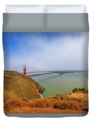 Golden Gate Bridge Vista Point Duvet Cover