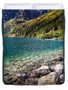 Green Water Mountain Lake Morskie Oko, Tatra Mountains, Poland Duvet Cover