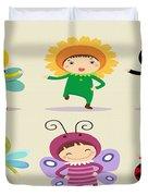 Happy Children  Duvet Cover