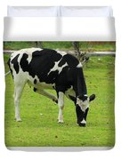 Holstein Cow On A Farm Duvet Cover