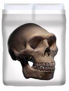 Homo Erectus Skull Duvet Cover