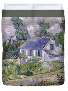 Houses At Auvers Duvet Cover