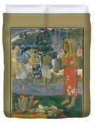 Ia Orana Maria Hail Mary Duvet Cover