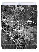 Iowa City Map Duvet Cover