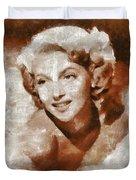 Lana Turner Vintage Hollywood Actress Duvet Cover