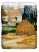 Landscape Near Arles Duvet Cover