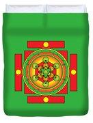 Metatron's Cube Merkaba Mandala Duvet Cover