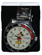 Mickey Mouse Watch Duvet Cover