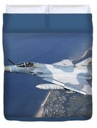 Mirage 2000c Of The French Air Force Duvet Cover
