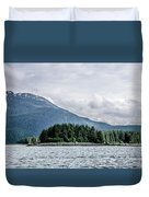 Mountain Range Scenes In June Around Juneau Alaska Duvet Cover