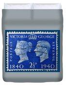 Old British Postage Stamp Duvet Cover