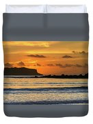 Orange Sunrise Seascape Duvet Cover