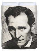 Peter Cushing, Vintage Actor Duvet Cover