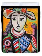 Picasso By Nora Duvet Cover