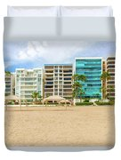 Playa De Chipipe In Salinas, Ecuador Duvet Cover