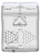 Pool Table Triangle Patent From 1915 Duvet Cover
