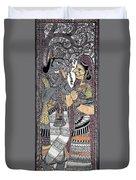 Radha Krishna Color Duvet Cover