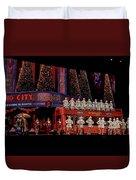 Radio City Rockettes New York City Duvet Cover