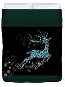 Reindeer Design By Snowflakes Duvet Cover