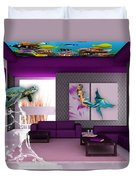 Rooftop Saltwater Fish Tank Art Duvet Cover