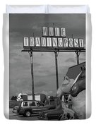 Route 66 - Mule Trading Post Duvet Cover
