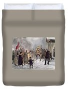 Russian Revolution, 1917 Duvet Cover
