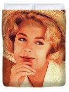 Sandra Dee, Vintage Actress Duvet Cover