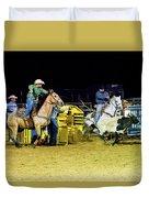 Steer Roping Duvet Cover