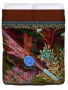 Sukkot- Prayer In The Sukkah Duvet Cover