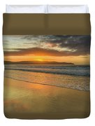 Sunrise Seascape At The Beach Duvet Cover