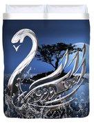 Swan Art. Duvet Cover