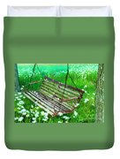 Swing In The Daisies Duvet Cover