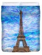 The Eiffel Tower Duvet Cover