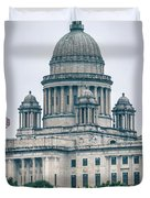 The Rhode Island State House On Capitol Hill In Providence Duvet Cover