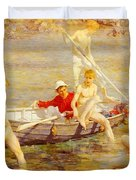 Tuke Henry Scott Ruby Gold And Malachite Henry Scott Tuke Duvet Cover