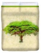 Umbrella Thorn Acacia Acacia Tortilis, Negev Israel Duvet Cover