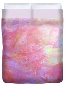 5. V1 Orange, Red And Yellow 'sun' Glaze Painting Duvet Cover
